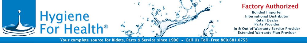 Hygiene For Health • Your Complete Source for Bidets, Parts & Service Since 1990