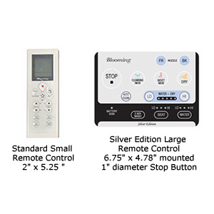 Blooming 1063 Bidet Seat Remote Controls - Standard Small or Silver Edition Large