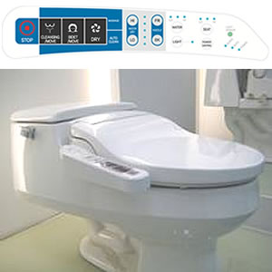 Galaxy 4000 Bidet Seat with side-panel control