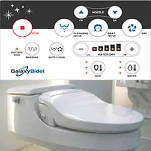 Galaxy 5000 Bidet Seat with remote control