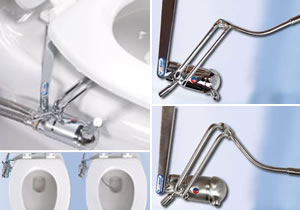 Go Bidet in satin finish